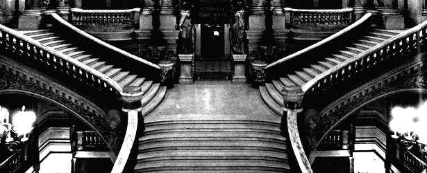 Garnier - l\'escalier de l\'Opéra de Paris - vue du palier